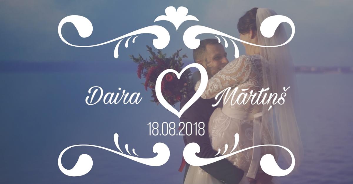 Daira & Mārtiņš - kāzu video